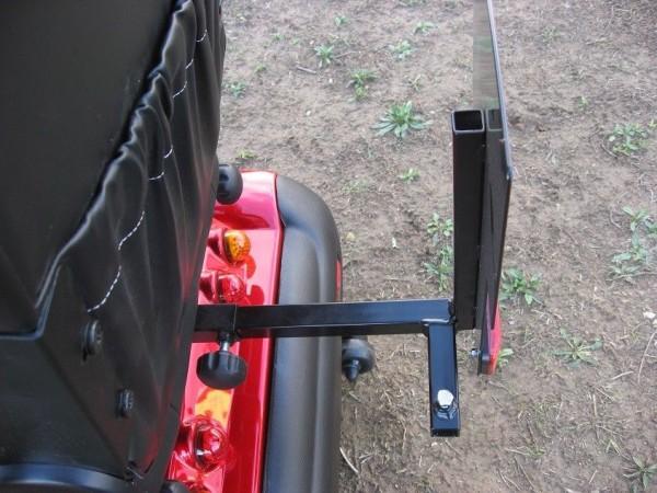 Heckmarkierungstafel + Gehstockhalter - doppelt im Set für Elektromobile