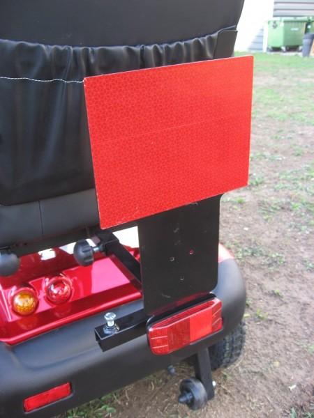 Heckmarkierungstafel für Elektromobile