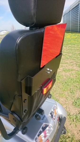 Heckmarkierungstafel mit Kennzeichenhalter für Elektromobile