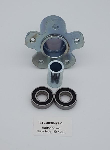 Radnabe mit Kugellager vorne für LG 4038